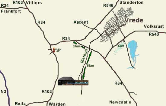 Interactive Map Of The Hiplains Area Vrede District North Eastern