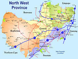Map North West South Africa | Jackenjuul